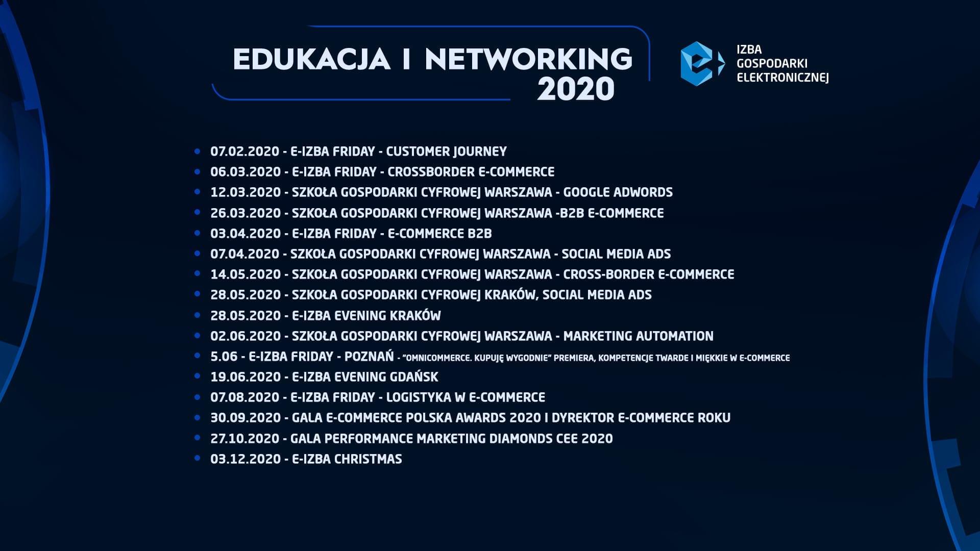 Save the dates! Edukacja i networking e-Izby 2020!