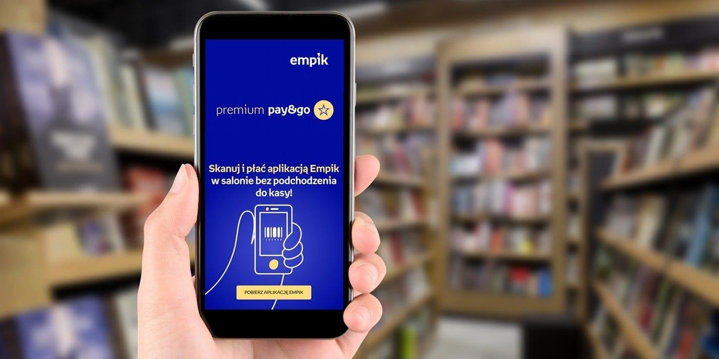 W salonach Empik za zakupy zapłacisz w kilka sekund na swoim telefonie – ruszają mobilne płatności Premium Pay&Go
