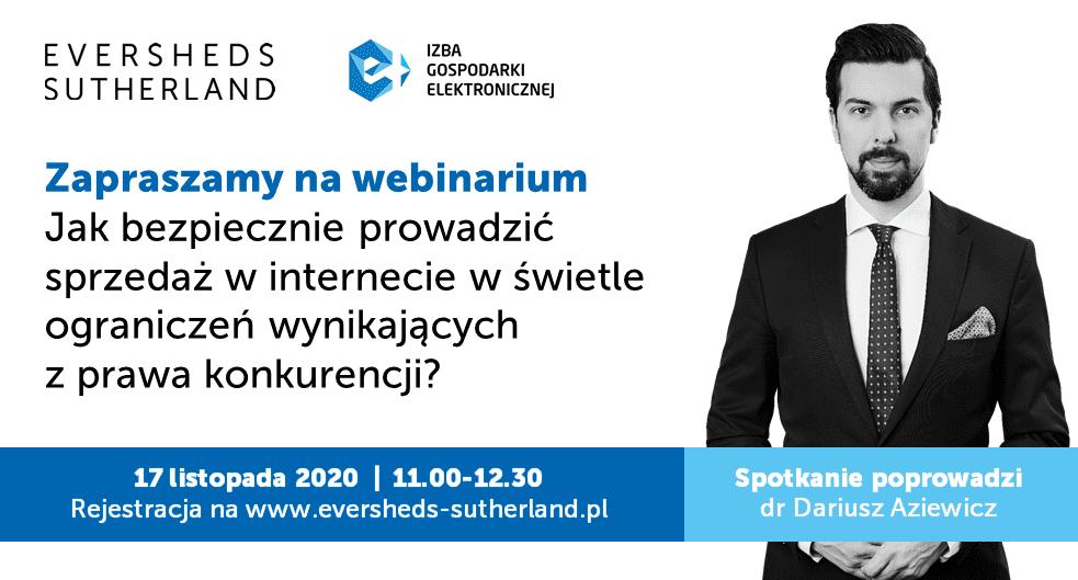 "Webinar pod patronatem e-Izby: ""e-Commerce a prawo konkurencji"""