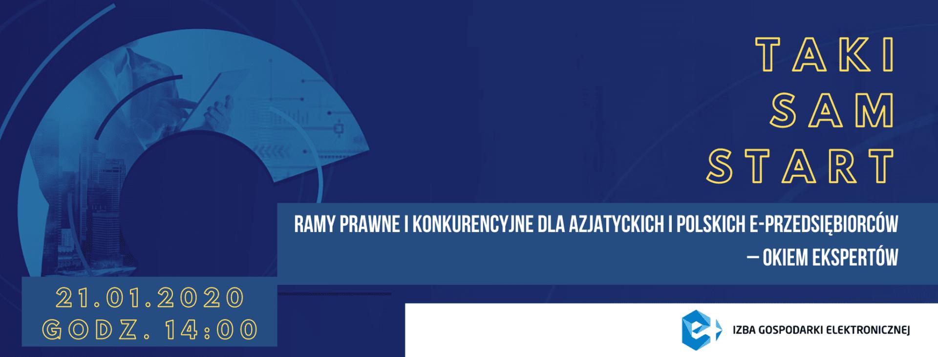 """e-Izba Round Table """"Taki sam start –  równe ramy prawne i konkurencyjne dla azjatyckich i polskich e-przedsiębiorców"""""""