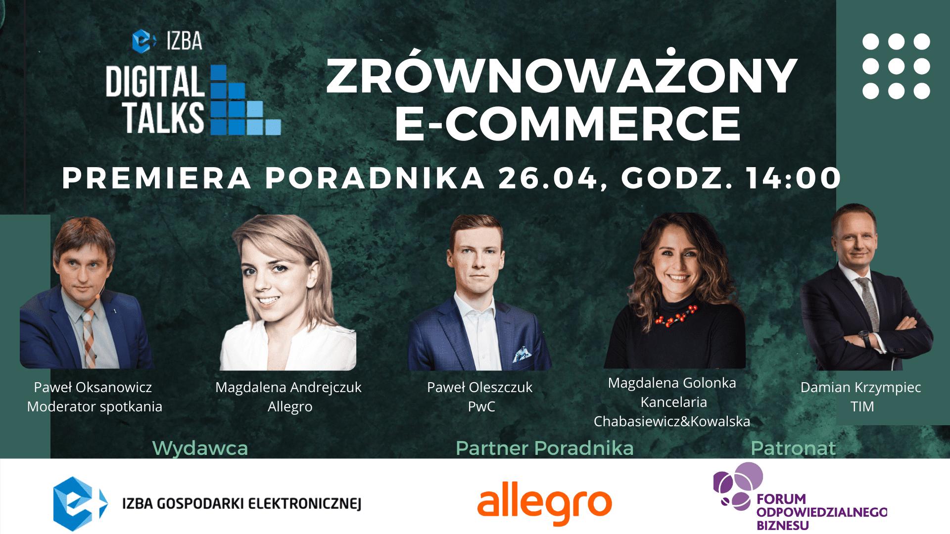 """e-Izba Digital Talk: Premiera poradnika """"Zrównoważony e-commerce"""""""