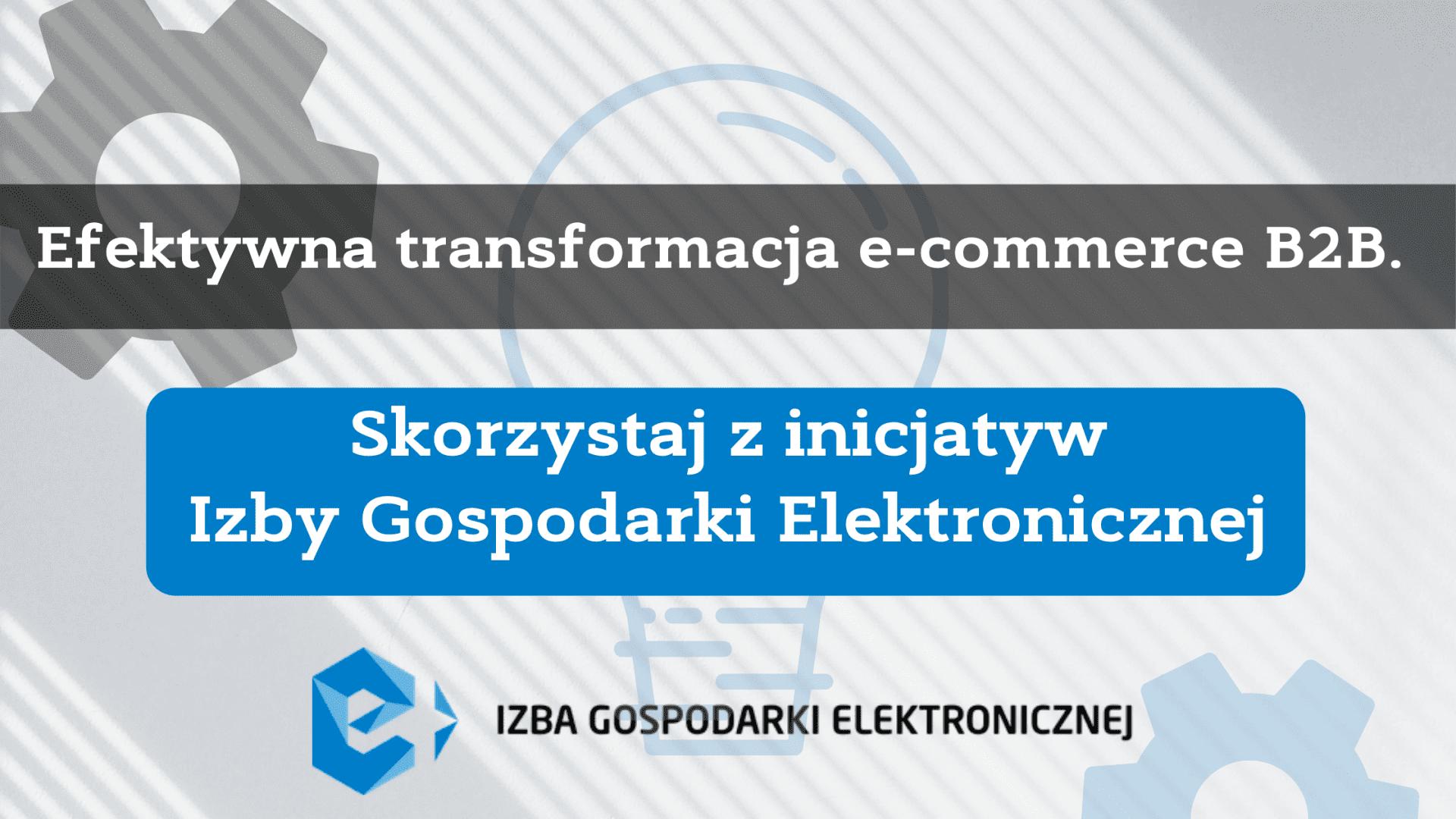 Efektywna transformacja e-commerce B2B. Skorzystaj z inicjatyw Izby Gospodarki Elektronicznej